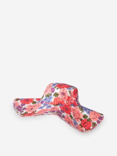 Floral Linen Hat