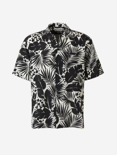 Camisa Seda Estampada