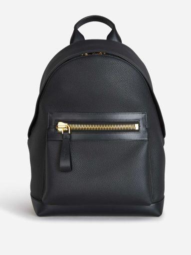 Leather Zipper Backpack